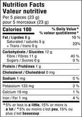 Peppermint  Chocolate - Bites - Sugar Free , Low Carb - Nutritional Information