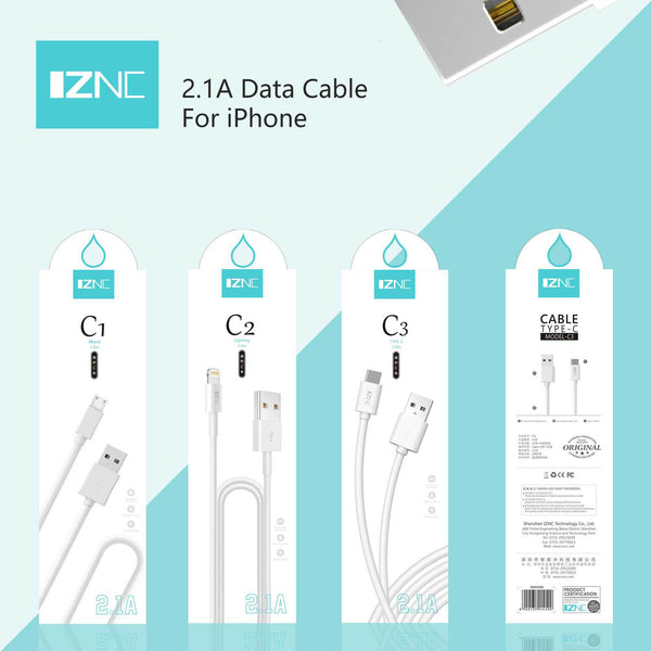 1 meters 2.1A charging cable for iPhone