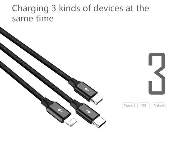 3 in 1 USB Cable for Mobile Phone