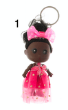 Unlimited Beauty Care Accessories 1 Doll in Dress Keychain