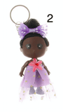 Unlimited Beauty Care Accessories 2 Doll in Dress Keychain