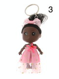 Unlimited Beauty Care Accessories 3 Doll in Dress Keychain