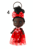 Unlimited Beauty Care Accessories 4 Doll in Dress Keychain