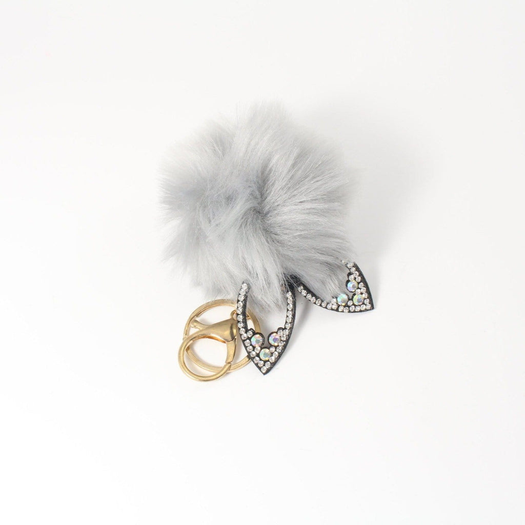 Pom Pom Cat Ears Key Chain
