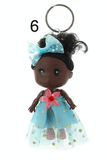 Unlimited Beauty Care Accessories 6 Doll in Dress Keychain