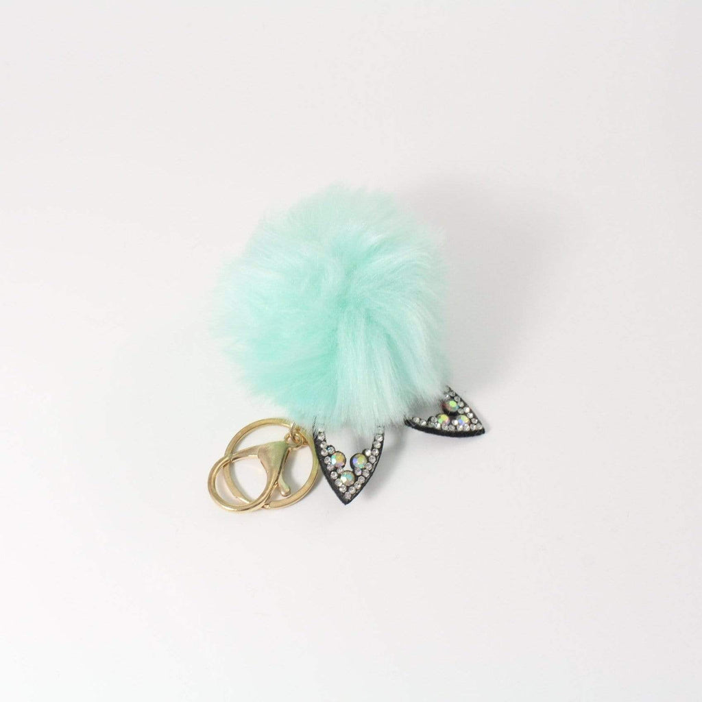 Unlimited Beauty Care Accessories 6 Pom Pom Cat Ears Key Chain