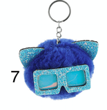 Unlimited Beauty Care Accessories 7 Cat Keychain With Glittery Sunglasses