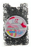 Unlimited Beauty Care Accessories Black Clasp Free Elastic Rubber Bands - 1000 pieces