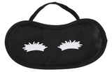 Unlimited Beauty Care Accessories Black Sleeping Mask with White Eyebrow