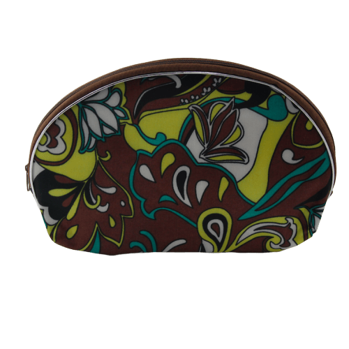Unlimited Beauty Care Accessories Brown Flowers Print Bag