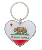 Unlimited Beauty Care Accessories California Flag Keychain