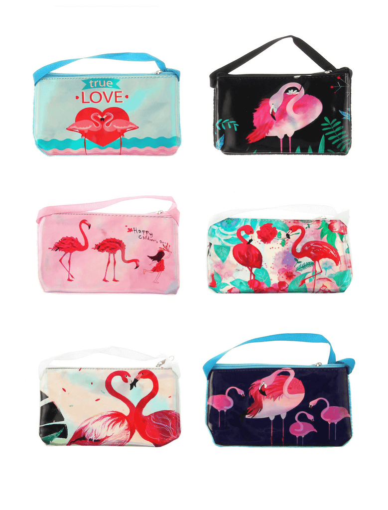 Unlimited Beauty Care Accessories Flamingo Print Wallet