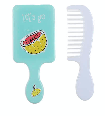 Unlimited Beauty Care Accessories Grapefruit Fruit Themed Mirror with Comb For Kids
