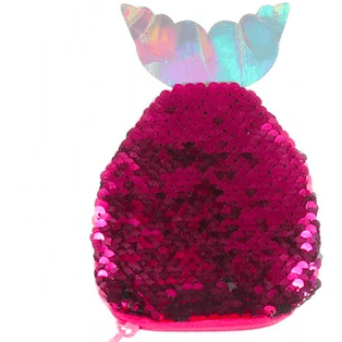 Sequin Fish Shaped Coin Purse