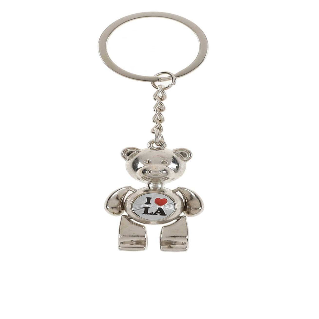 Unlimited Beauty Care Accessories I Love LA Teddy Bear Keychain
