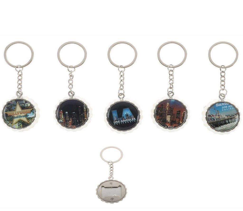 Unlimited Beauty Care Accessories Los Angeles City Bottle Cap Opener & Keychain