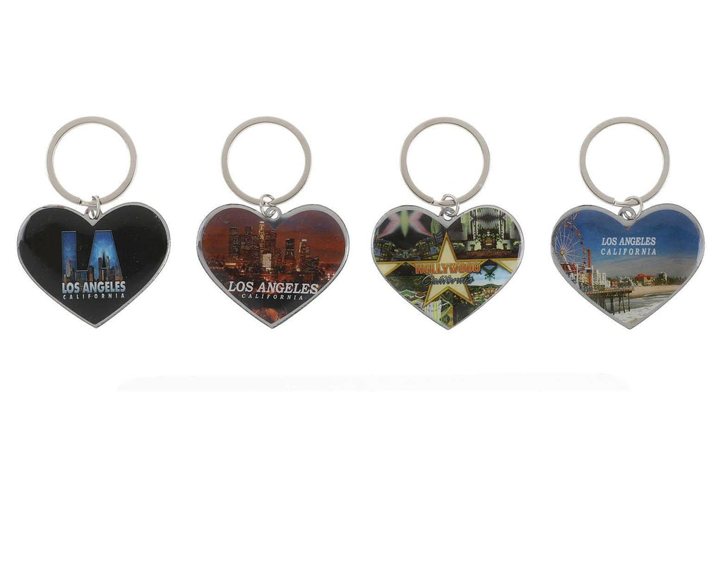 Unlimited Beauty Care Accessories Los Angeles Heart Keychain