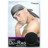 Unlimited Beauty Care Accessories MAXIM Original Du-Rag with Long Tie (Black)