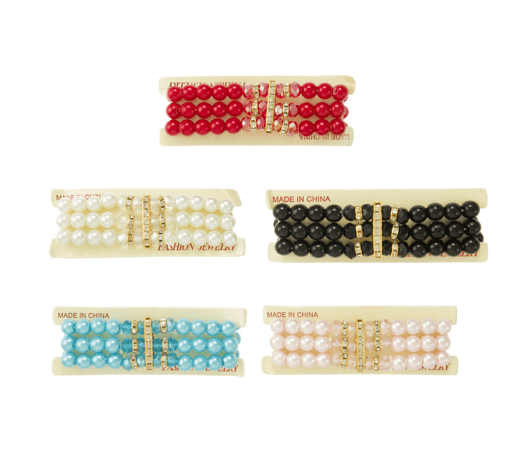 Unlimited Beauty Care Accessories Multicolor Pearl Stretch Bracelet