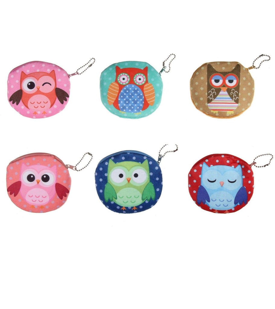Unlimited Beauty Care Accessories Owl Print Coin Purse