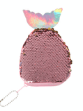 Unlimited Beauty Care Accessories Pink Sequin Fish Shaped Coin Purse