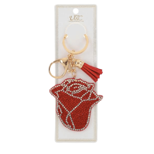 Rose Flower Keychain