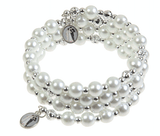 Unlimited Beauty Care Accessories Spiral Pearl &Silver Beads Bracelet