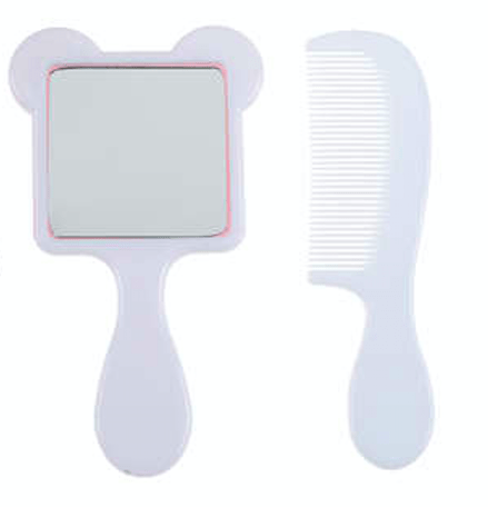 Unlimited Beauty Care Accessories Unicorn Themed Mini Mirror with Comb