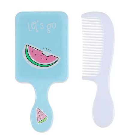 Unlimited Beauty Care Accessories Watermelon Fruit Themed Mirror with Comb For Kids