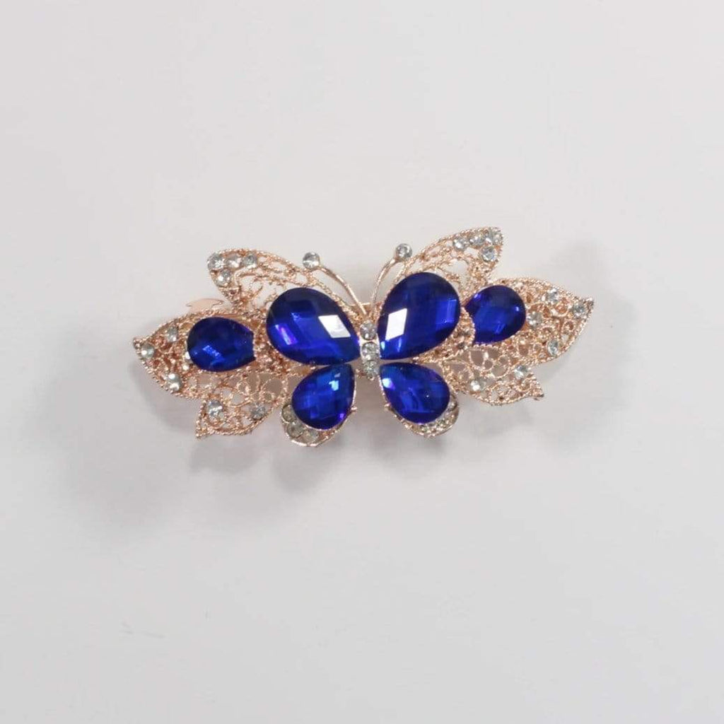 Unlimited Beauty Care Barrettes 3 Butterfly Metal Hair Barrette
