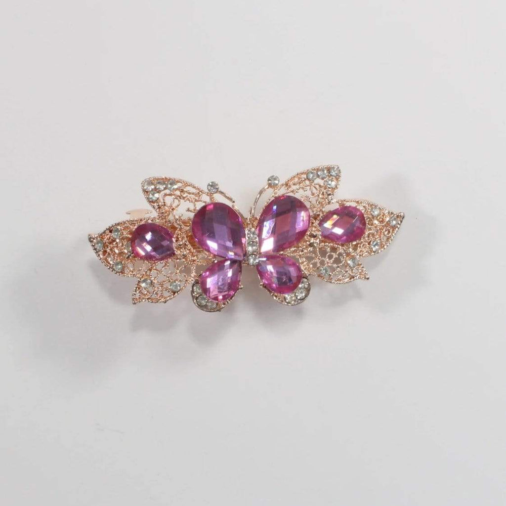 Unlimited Beauty Care Barrettes 5 Butterfly Metal Hair Barrette