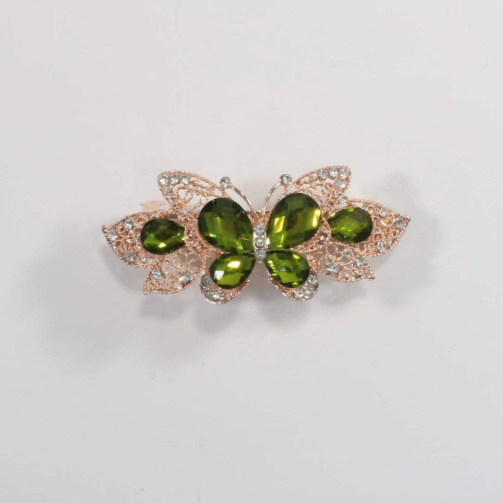 Unlimited Beauty Care Barrettes 8 Butterfly Metal Hair Barrette