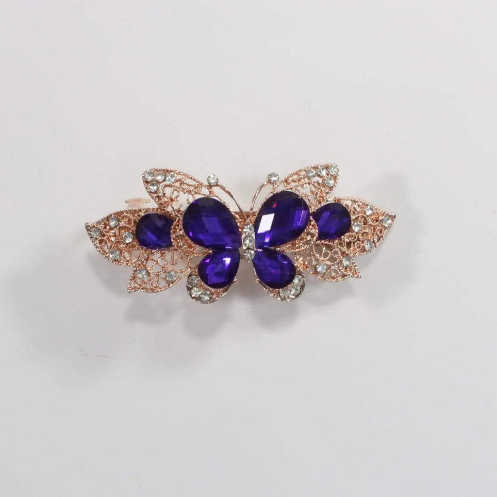 Unlimited Beauty Care Barrettes 9 Butterfly Metal Hair Barrette