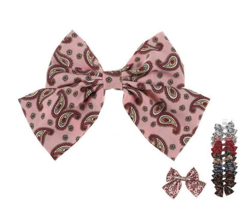 Unlimited Beauty Care Hair Bows Paisley Design Hair Bows