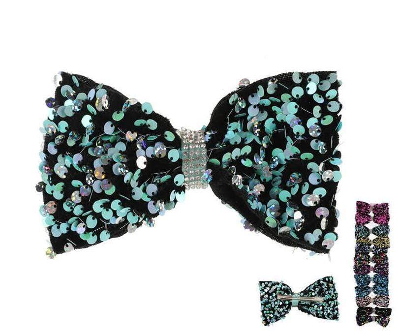Unlimited Beauty Care Hair Bows Sequin Bow Hair Clips