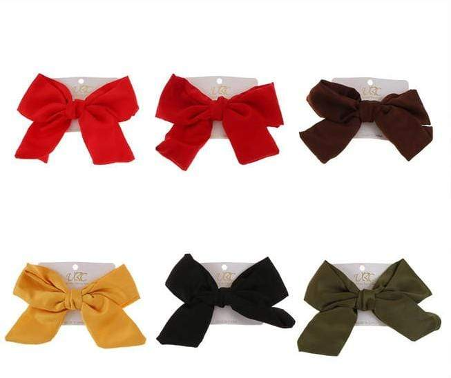 Unlimited Beauty Care Hair Bows Solid Hair Bow Snap Clip