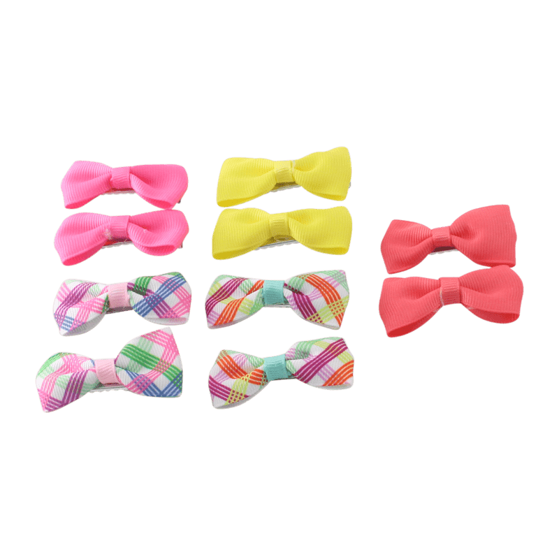 Unlimited Beauty Care Hair Clips 3 Hair Bow Clips - Multicolor (10 pieces)