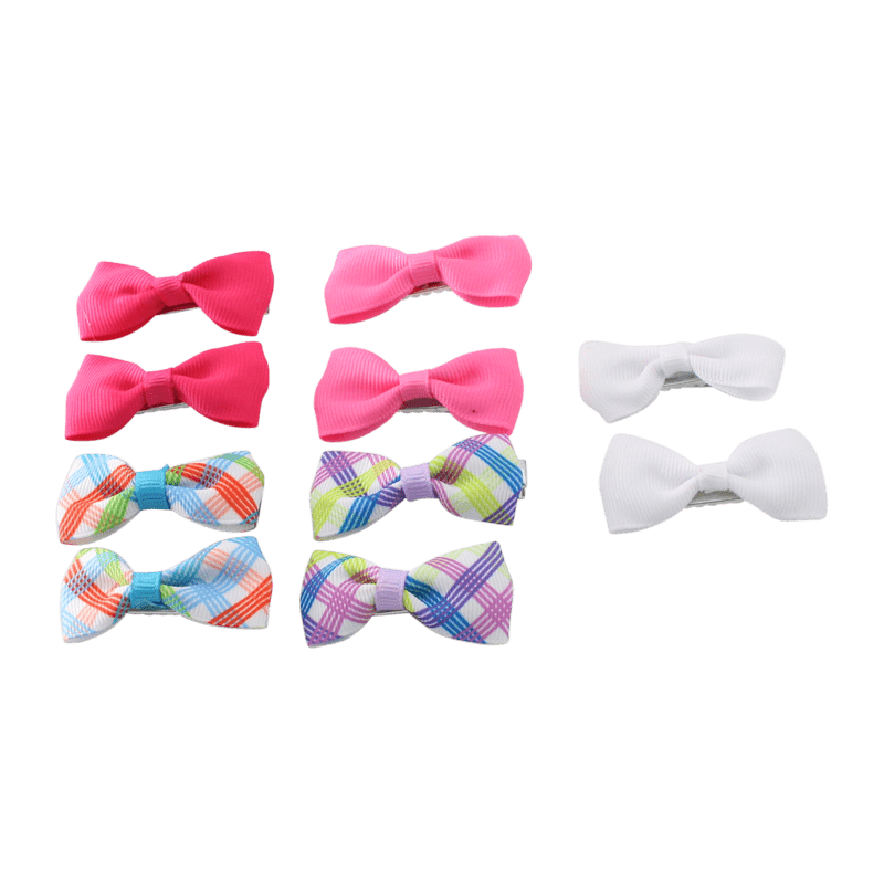 Unlimited Beauty Care Hair Clips 4 Hair Bow Clips - Multicolor (10 pieces)