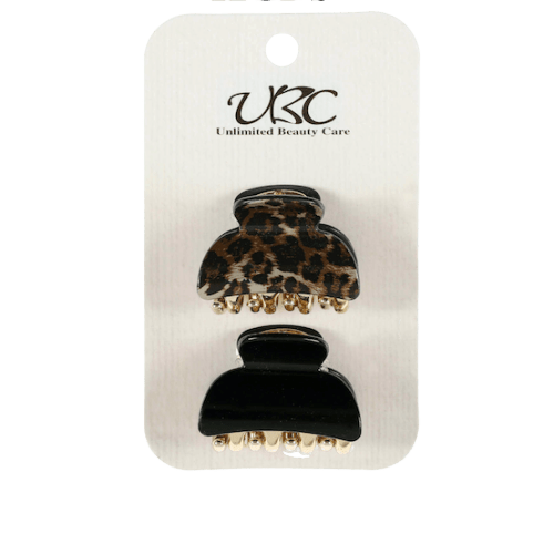 Unlimited Beauty Care Hair Clips Cheetah + Black Hair Clip