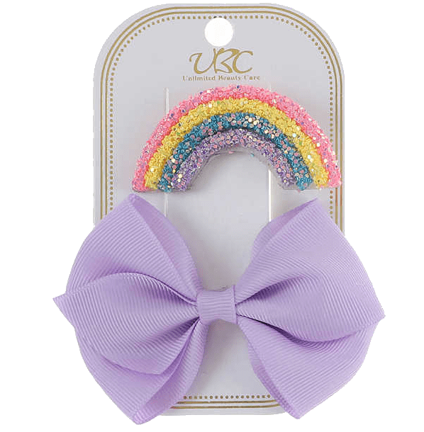 Unlimited Beauty Care Hair Clips Lavender Rainbow Hair Clip Set