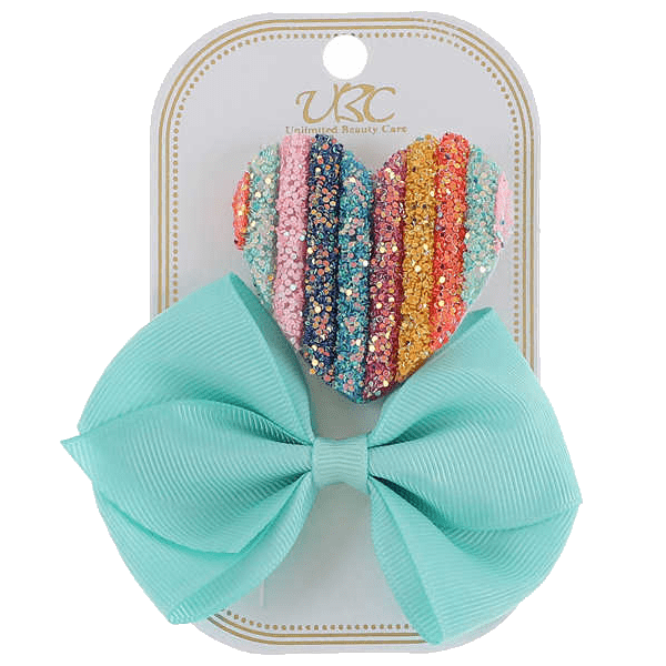Unlimited Beauty Care Hair Clips Light Blue Rainbow Hair Clip Set