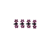 Unlimited Beauty Care Hair Clips Purple Mini Flower Hair Clips