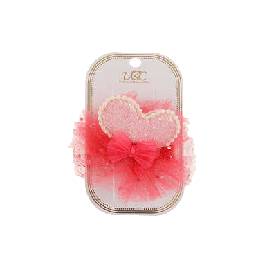 Unlimited Beauty Care Hair Clips Red Heart + Pearl Hair Clip Set