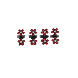 Unlimited Beauty Care Hair Clips Red Mini Flower Hair Clips