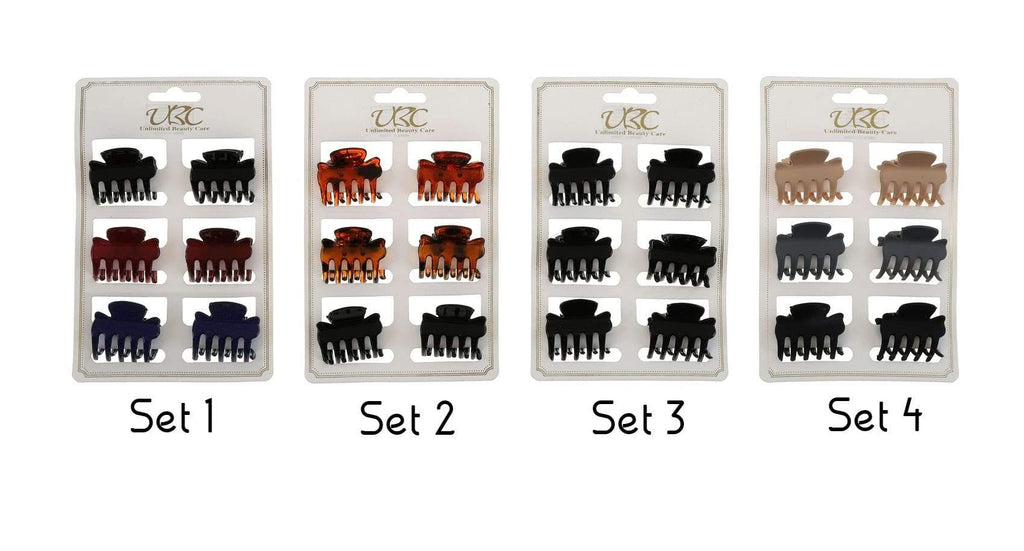 Unlimited Beauty Care Hair Clips Set 4 Classic Hair Claws
