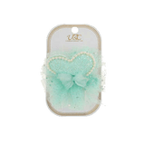 Unlimited Beauty Care Hair Clips Teal Heart + Pearl Hair Clip Set