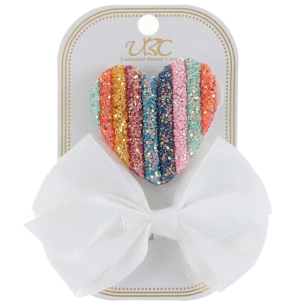 Unlimited Beauty Care Hair Clips White Rainbow Hair Clip Set