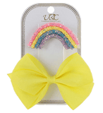 Unlimited Beauty Care Hair Clips Yellow Rainbow Hair Clip Set