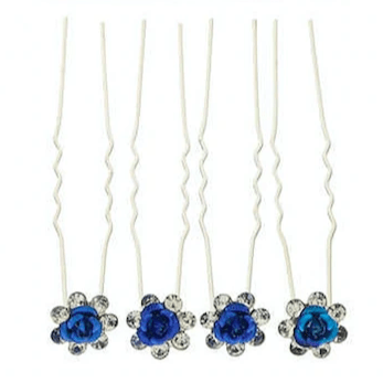 Unlimited Beauty Care Hair Pins Blue Flower Decorative Hair Pins