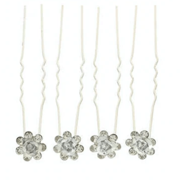 Unlimited Beauty Care Hair Pins Clear Flower Decorative Hair Pins